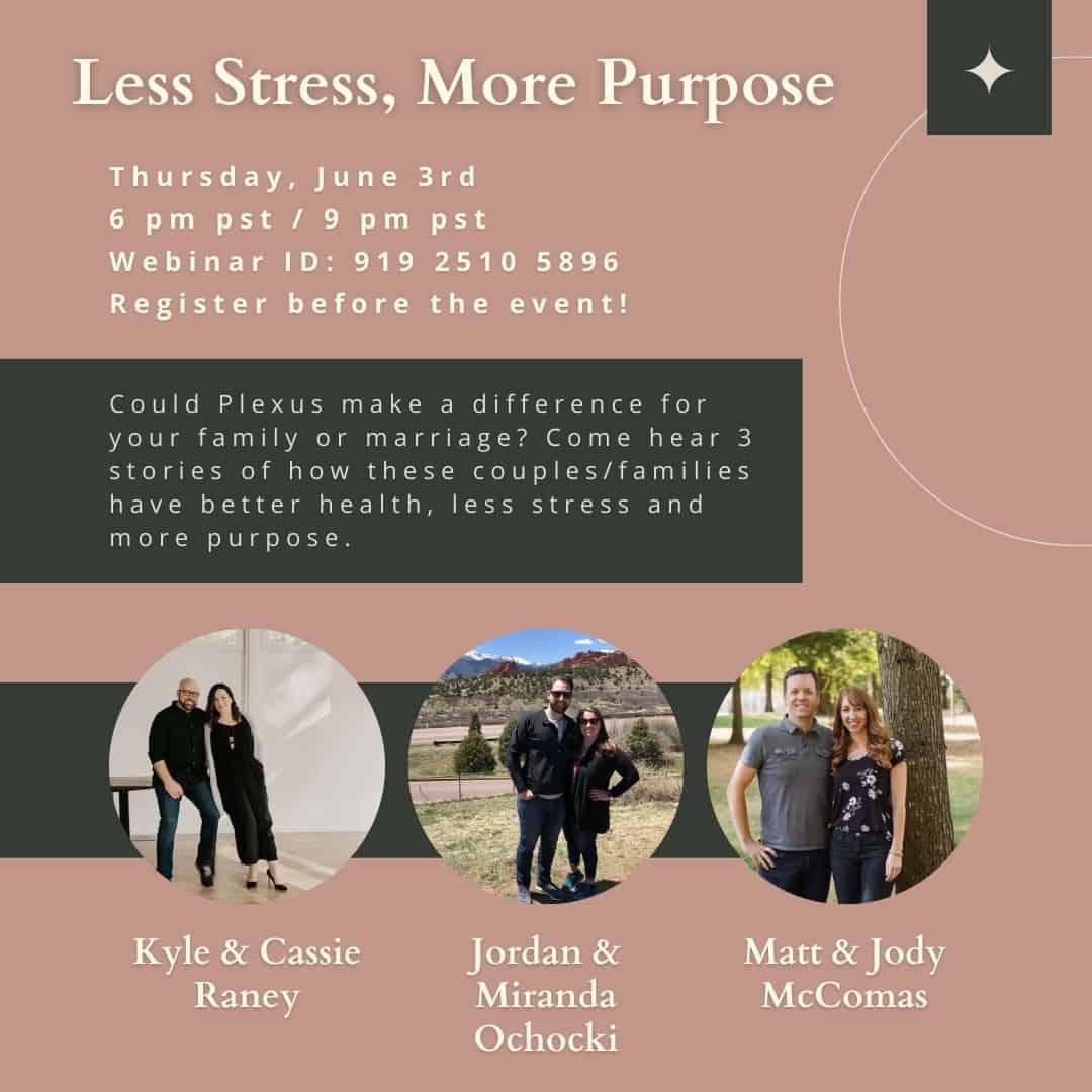 Less Stress, More Purpose